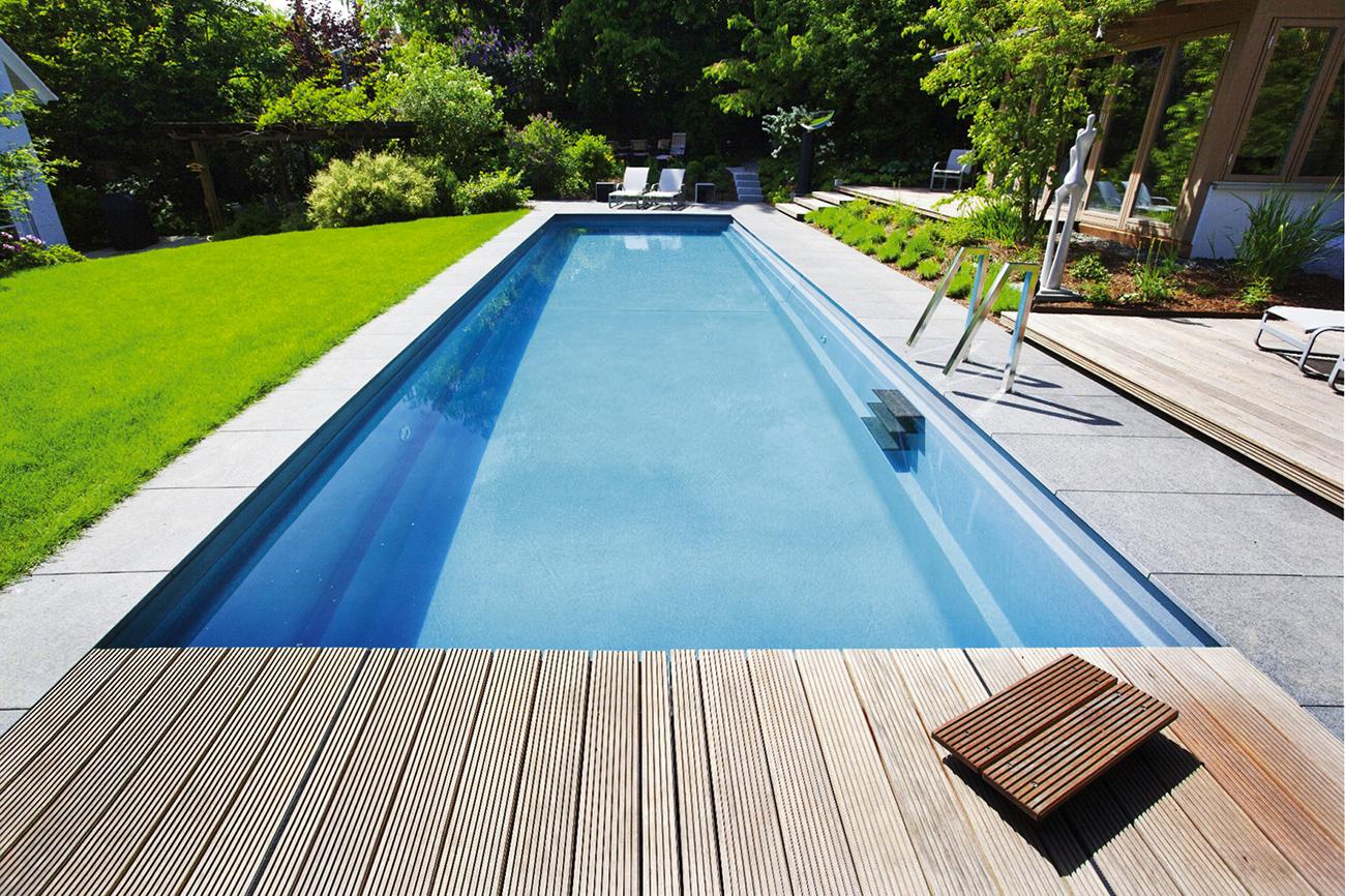 Installation piscine nos r alisations piscine sur for Construction piscine tva 5 5