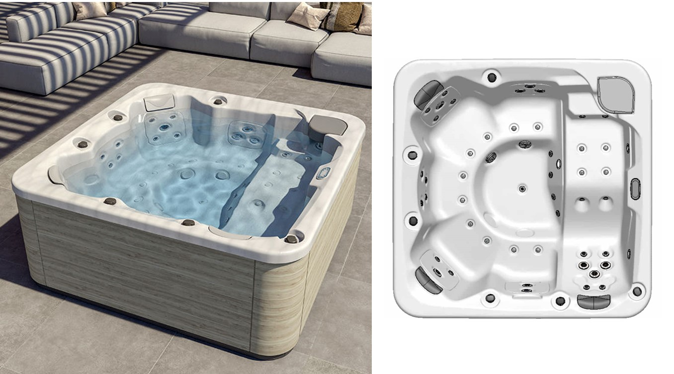 Spa jacuzzi 6 places Pulse